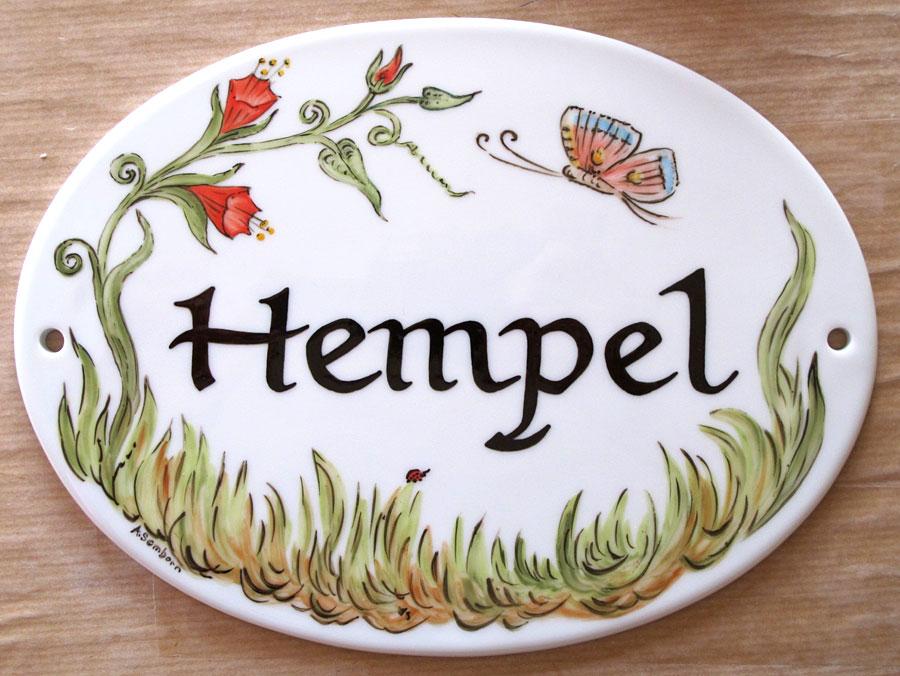 Handbemalte Porzellanschilder für Haus und Garten - Fliesenmalerei ...