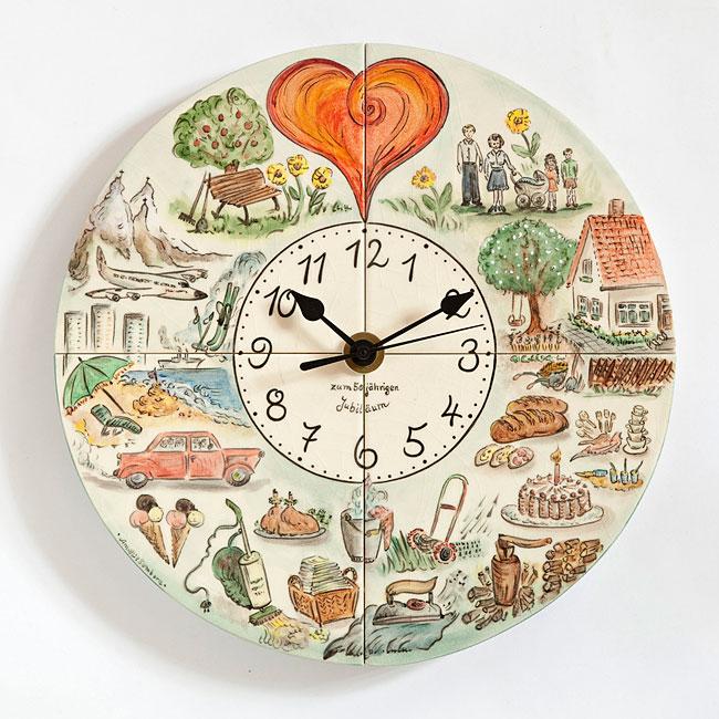Einzigartige Uhren Mit Fliesenmalerei   Mit Individuellen Motiven Zum  Geburtstag, Silberhochzeit Und Anderen Besonderen Anlässen