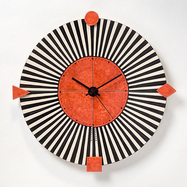 Moderne Uhr individuelle uhren mit handgemalten motiven fliesenmalerei annelie