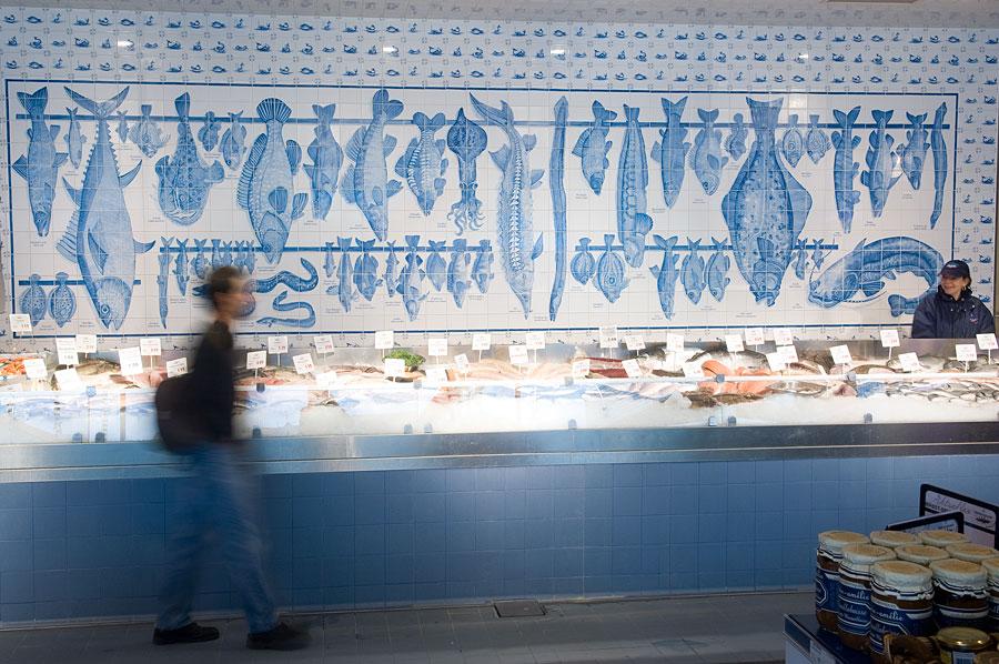 Wohnküche Bleckede Oliver Barda ~ Fliesenmalerei Handgemalte Fische auf Fliesen im Frischeparadies [R
