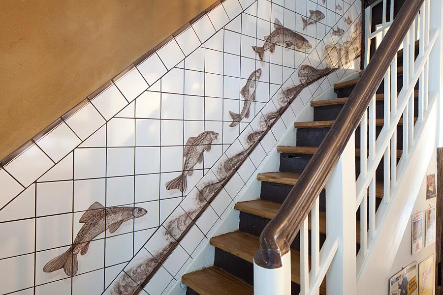 Die wohnküche bleckede  Handgemalte Fliesenbilder in Geschäftsräumen - Fliesenmalerei ...