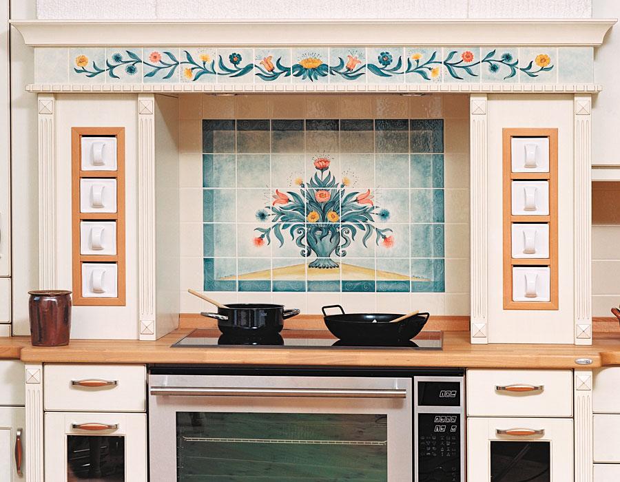 Küchen mit individueller Fliesenmalerei - handgemalte Fliesen von ...